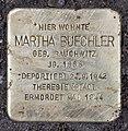 Stolperstein Zähringerstr 23 (Wilmd) Martha Buechler.jpg