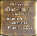 Stumbling stone for Helga Schnog (Krummer Büchel 18)