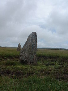 Stone Circle by track on King Arthur's Downs - geograph.org.uk - 29689.jpg