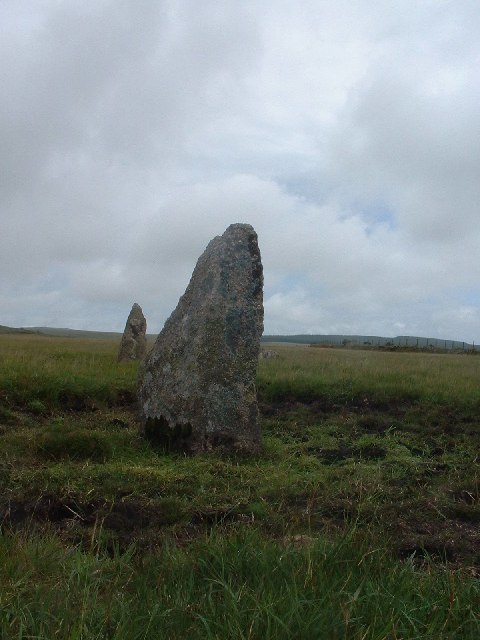 Stone Circle by track on King Arthur's Downs - geograph.org.uk - 29689
