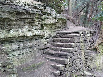 English: Stone Steps The beginnings of a long ...