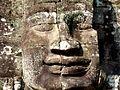 Stone face in Bayon, Angkor.JPG