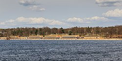The beach of Wannsee (Strandbad Wannsee)