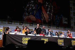 Stranger Things - The Duffer Brothers and the cast of season 2 of Stranger Things at the 2017 San Diego Comic-Con International