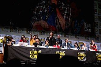 Stranger Things - The Duffer Brothers, Shawn Levy and the main cast of season 2 of Stranger Things at the 2017 San Diego Comic-Con International