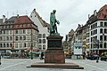 Strasbourg, place Gutenberg, statue de Gutenberg, David d'Angers 02.jpg