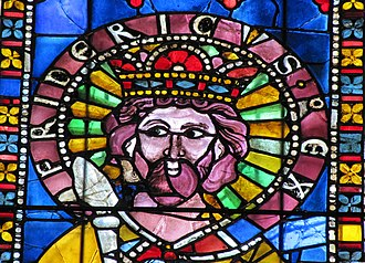 Frederick I, Holy Roman Emperor - 13th-century stained glass image of Frederick I, Strasbourg Cathedral