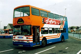 Stagecoach Strathtay - A Strathtay Scottish Leyland Olympian at Arbroath in 2004, when the company was owned by Yorkshire Traction.