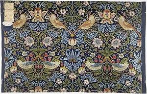 Strawberry Thief (William Morris) - Strawberry Thief, 1883, William Morris (1834-1896) V&A Museum no. T.586-1919