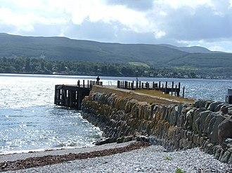 Strone - Image: Strone Pier (derelict) geograph.org.uk 865180