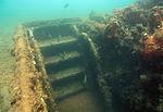 Submerged aft hatch of USS Arizona.jpg