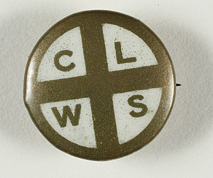 Church League for Women's Suffrage - CLWS badge