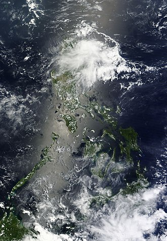 Sunglint - Image: Sunglint over the philippines