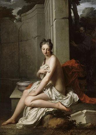 Jean-Baptiste Santerre - Image: Suzanne au bain (Jean Baptiste Santerre)
