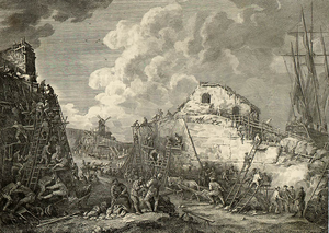 Så lunka vi så småningom - Life is hard and then you die, so why not have a drink? Engraving of Sveaborg's Galley Docks by Bellman's contemporary, Elias Martin, 1782