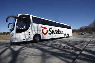 Swebus Express - A Scania OmniExpress in new Swebus livery in 2010.