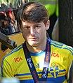 Sweden national under-21 football team, Euro 2015 celebration, players 47 (Zeneli).JPG