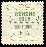 Switzerland Renens 1913 revenue 9 2Fr - 47.jpg