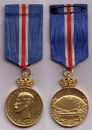 Adolf Lindstrøm - Lindstrøm was awarded the South Pole Medal for his participation in Roald Amundsen's South Pole expedition