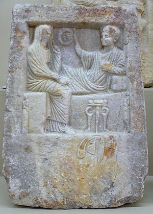 Chalcedon - Funerary stele from the 1st century BC.