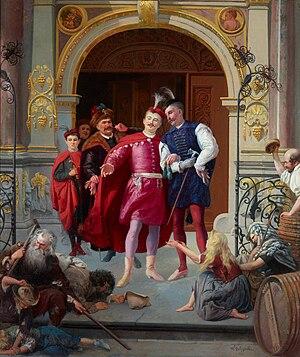 Szlachta privileges - Polish szlachta nobles in Gdańsk. Painting by Wilhelm August Stryowski.