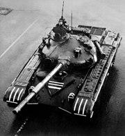 T-72A tank on parade