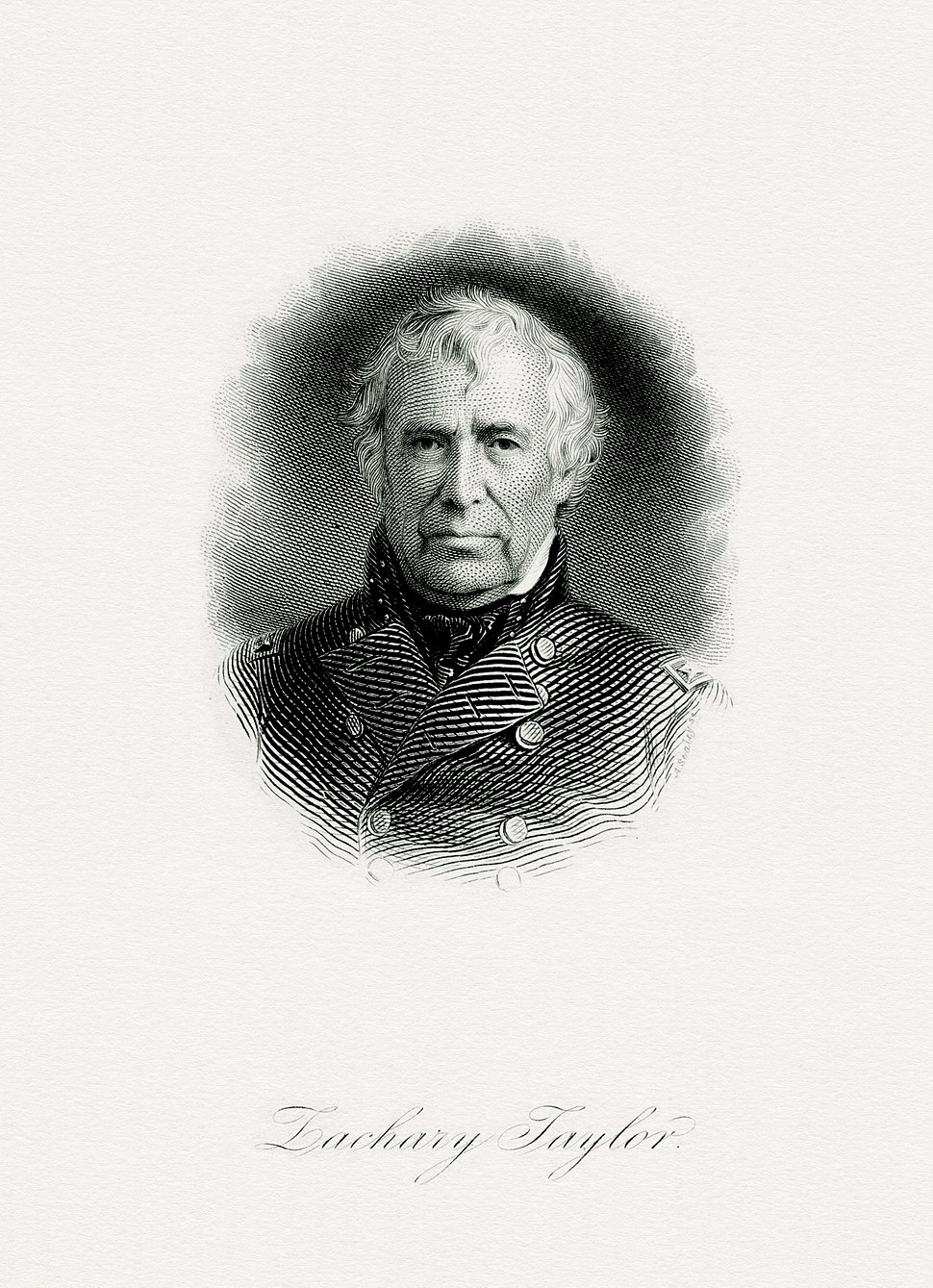 TAYLOR, Zachary-President (BEP engraved portrait)