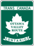Trans-Canada Highway Ottawa Valley Route shield