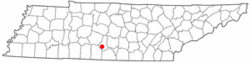 Location of Cornersville, Tennessee