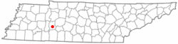 Location of Linden, Tennessee