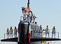 TThe Los Angeles-class attack submarine USS Albuquerque (SSN 706) returns to Naval Base Point Loma in San Diego, Aug. 21, 2013, following a seven-month deployment to the western Pacific region 130821-N-NB544-130.jpg