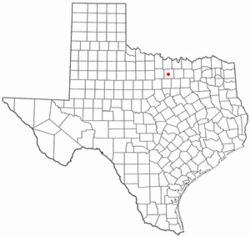 Location of Paradise, Texas
