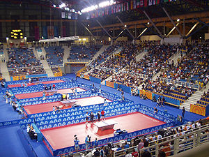 Sport in Greece - Galatsi Olympic Hall during the 2004 Summer Olympics.