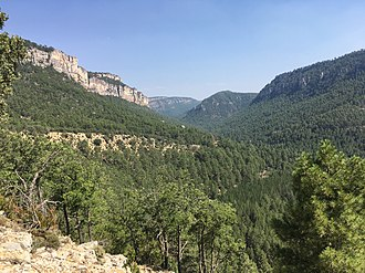 Tagus - Tagus river gorge, in the Alto Tajo Nature Reserve, Guadalajara, Spain