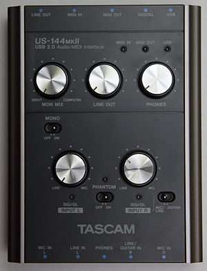 TASCAM - Audio interface US-144MKII