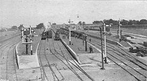 Tattenham Corner railway station - 1901 view