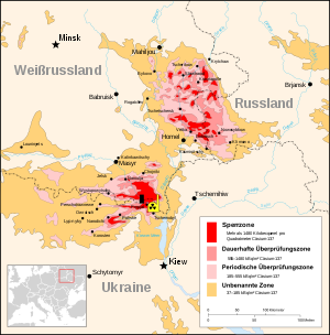 Radiation hotspots of Cesium-137 from Chernobyl
