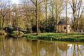 Tea pavilllon and a bridge in Pszczyna Park (3658158004).jpg