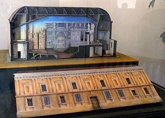 Teatro all'antica -  This scale model of the Teatro all'antica is located inside the theater.