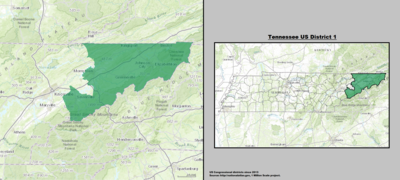 Tennessee's 1st congressional district - since January 3, 2013.
