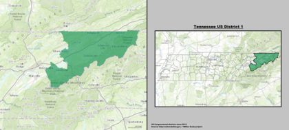 Tennessees Congressional Districts Wikipedia - Us representative map