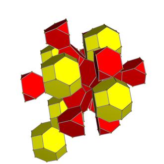 Truncated tesseract - Net