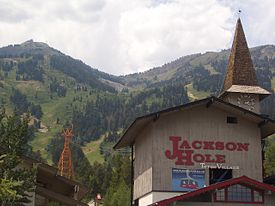 Teton Village clock tower and tram station.jpg