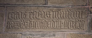 "Costa (surname) - Mediaeval Galician inscription in a 14th-century house, in Noia: ""ESTAS CASAS MANDOU FAZER VASCO DA COSTA, ERA DE MCCCLXXVII"" These houses were ordered by Vasco da Costa, era 1377 (1339 AD)"