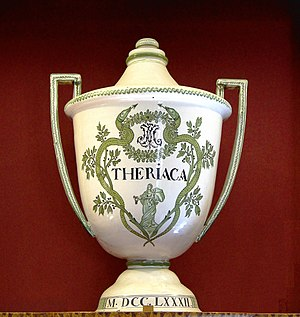 Theriac - Theriac pot dated 1782 from the Hospices de Beaune