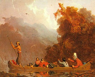 Oh Shenandoah - Charles Deas' The Trapper and his Family (1845) depicts a voyageur and his Native American wife and children