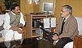 The Chief Minister of Andhra Pradesh, Shri N. Kiran Kumar Reddy meeting the Union Minister for Rural Development and Panchayati Raj, Dr. C.P. Joshi, in New Delhi on January 05, 2011.jpg