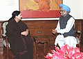 The Chief Minister of Tamil Nadu, Dr. J. Jayalalithaa calling on the Prime Minister, Dr. Manmohan Singh, in New Delhi on June 14, 2011.jpg