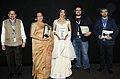 The Director Pratim Dasgupta, Producer Tushar Shah, Actress Paoli Dam, Actress Mamata Shankar cast & crew of the film MAACHER JHOL, at the presentation, during the 48th International Film Festival of India (IFFI-2017).jpg