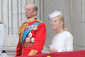 Prince Edward, Duke of Kent - The Duke and Duchess of Kent on the balcony of Buckingham Palace at the 2013 Trooping the Colour